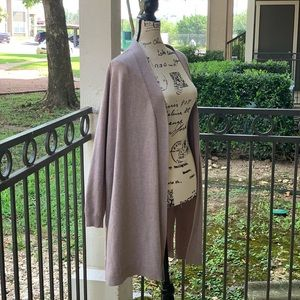 89th & Madison Long Open Front Brown Cardigan